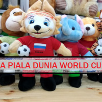 Boneka Maskot logo Piala Dunia World Cup 2018