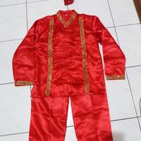 Pakaian adat anak baju makassar size L - XL