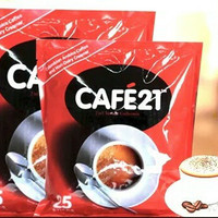 Cafe21 2 in 1 Instant Coffee mix / Cafe 21 2in1 Coffeemix (25 sachets)