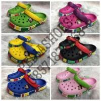 Termurah Berkualitas Sandal Anak Crocs Crocband Lego Original (Grosir