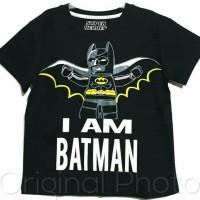 Termurah Berkualitas Kaos Anak Size 1-6 Batman Lego Hitam I'M Batman |