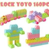 Termurah Berkualitas Mainan Edukasi Block Lego Yoyo 160 Pcs / Block