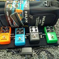 Set Efek Gitar NU-X Free Bag,Pedal Train,Velcro,3 kabel Jamper[ NU-X ]