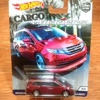 Diecast Hot Wheels Cargo Series Honda Odyssey Red Bisimoto Odysey Red