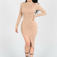 NEW SALE MINI DRESS BODYCON TURTLE NECK