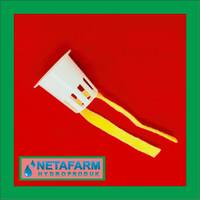 Netpot 5cm Putih + Flanel Sumbu Hidroponik