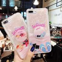 Casing import iphone 6 6S 7 8 plus X murah hello summer cartoon case