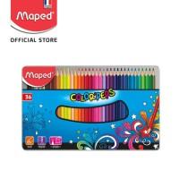 Maped Pensil Warna Color'Peps 36' - Metal Box