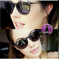 Kacamata gaya sunglass keren murah cewe cowo retro vintage hitam bulat