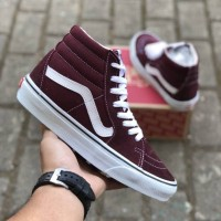 VANS SK8 HIGH PORT ROYAL WHITE PREMIUM DT BNIB TAG CHINA