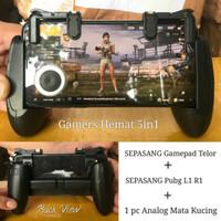 TERMURAH PAKET 3IN1 PUBG GAMEPAD TELUR + TRIGGER V3+ MATA KUCING.