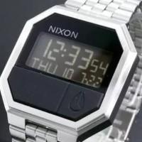 Jam tangan Nixon A158000 Re-Run Silver Unisex Watch Original