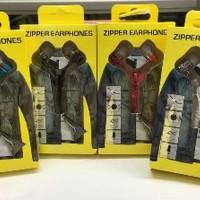 Earphone Zipper Headset Aksesoris Handphone HP Diskon