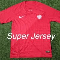 Jersey Polandia Away Grade ORI Kaos Bola World Cup Piala Dunia 2018!!!