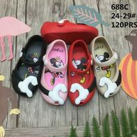 Jelly Shoes Anak Sepatu Sandal Anak Cewek Cowok Mickey Lucu Flat Shoes