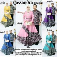 Baju Batik Couple Kebaya Batik Cassandra Rok panjang Hem Kemeja Cowok