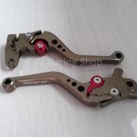 Handel Handle Rem CNC Variasi Yamaha Mio Warna Brown Titanium