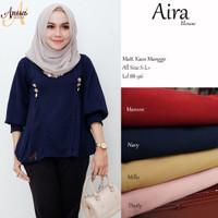 Baju wanita blouse tunik aira muslim modern keren trendi lucu