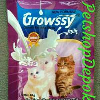 Susu Kucing Growssy Cat Milk 1Box Free 1 Saset Susu Anak Kucing