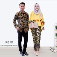 Batik couple,sarimbitan,keluarga,resmi,muslim SRG 669