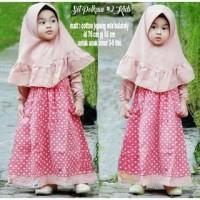 Pakaian Muslim Koleksi Terbaru DRESS GAMIS ANAK POLKACU SET / FASHION