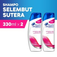 Head & Shoulders Shampoo Smooth & Silky 330ml Paket Isi 2