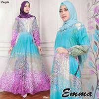 Long Dress Maxi Jumbo Busui Emma 03 katun fit to XL