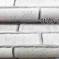 WPS589 bata putih 3d STICKER WALPAPER DINDING WALLPAPER