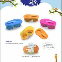 Baby Safe AP010 Divided Bowl With Spoon / Mangkok Makan Bayi