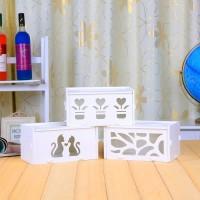 Desktop Storage Tempat Tissue Shabby / Kotak Tissue