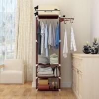 [HB704] Stand hanger rak lemari pakaian serbaguna tanpa cover