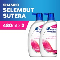 Head & Shoulders Shampoo Smooth & Silky 480ml Paket Isi 2