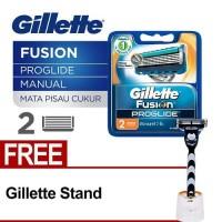 Gillette Fusion Proglide Manual Cartridge Isi 2 (FREE Gillette Stand