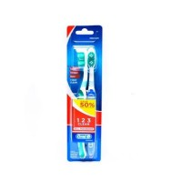 Oral B Sikat Gigi All Rounder 123 Clean 40 Soft Blister Card Isi 2