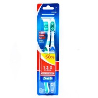Oral B Sikat Gigi All Rounder 123 Clean 40 Medium Blister Card Isi 2