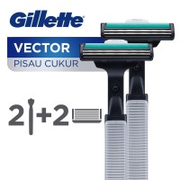 Gillette Pisau Cukur Vector Paket Isi 2