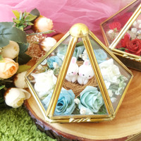 Wedding ring box terrarium kotak cincin custom