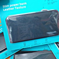 Power Bank Bcare Slim 7800 MAH Leater Texture Blue & Black- ORIGINAL
