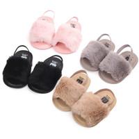 Sepatu sandal prewalker anak bayi perempuan plush