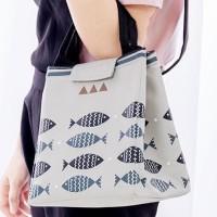 e1h1 Lunch bag FISH tas bekal cooler bag bonus 2pcs jelly ice cooler