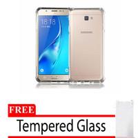 Case Samsung J1 J100 Anticrack Jellycase Free Tempered Glass 2in1