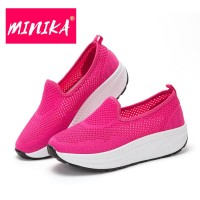ORIGINAL MINIKA Shallow Mouth Women Flat Shoes SEPATU WANITA RED NEW