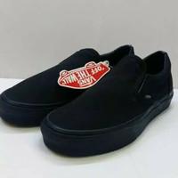 Sepatu Vans Slip On Full Black Premium Original