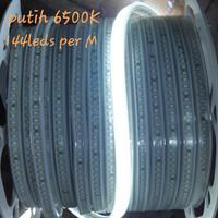 Lampu Led strip 2835 smd 144leds per meter putih 6500k khusus meteran