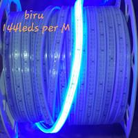 Lampu Led strip 2835 smd 144leds per meter biru khusus meteran