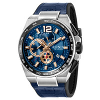 [original] Bonia Premium BP10366-1385C Jam Tangan Pria Leather Blue