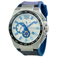 [original] Bonia Premium BP10366-1315C Jam Tangan Pria Leather Blue