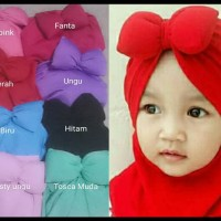 Hijab bayi anak minnie polos jilbab bayi anak pita tebal