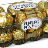 coklat Ferrero Rocher T16 Italian chocolate   Ferrero Rocher Isi 16