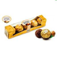 coklat chocolate Ferrero Rocher Ferrero isi 5 pcs   Ferrero Rocher T5